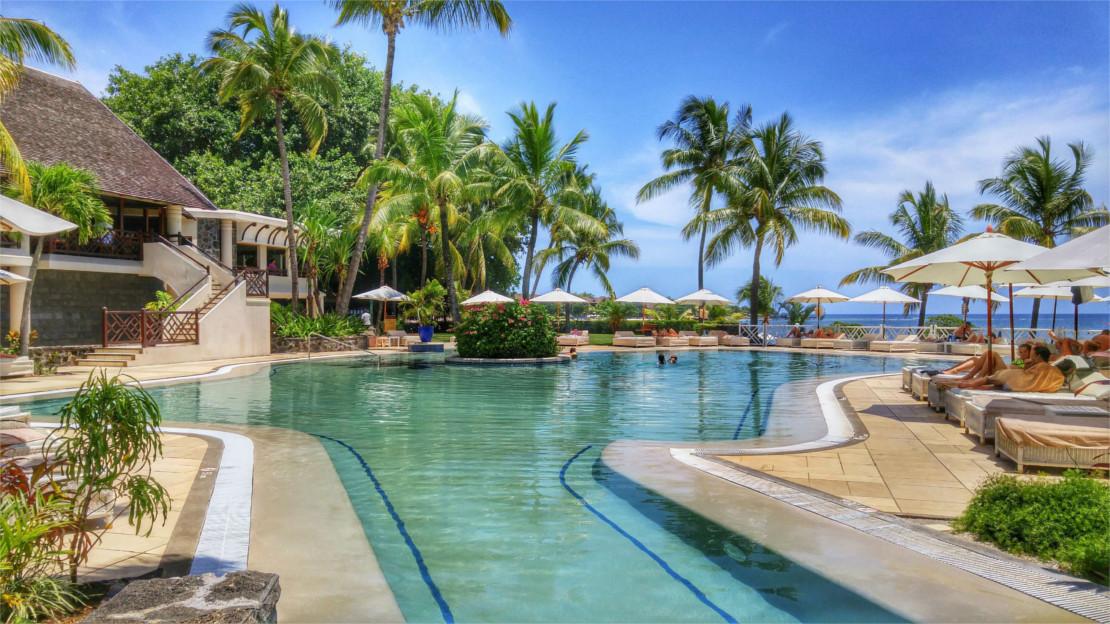 Pool area at Maritim Resort & Spa Mauritius